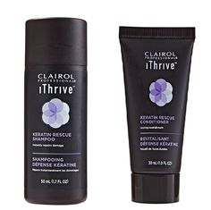 Clairol iThrive Keratin Rescue Shampoo and Conditioner Travel Size Duo Set *** Click image to review more details.