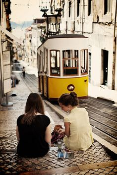 Lisbon, Lisboa, Tram, Electrico, Portugal www. Oh The Places You'll Go, Places To Travel, Places To Visit, Travel Around The World, Around The Worlds, Magic Places, Spain And Portugal, Adventure Is Out There, Wonders Of The World