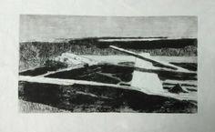 Laura Kozma: PRINTING Project - day 9 …my carborundum Boat on cotton