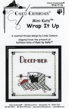 Calico Crossroads - Kats by Kelly - December 08 - Wrap It Up- Kitty Cat