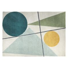 The Forma large, multi-coloured wool rug is a luxurious statement piece with a retro-styled design in warm yellow and pretty, pastel shades of green. Buy now at Habitat UK. Carpet Trends, Carpet Ideas, Cheap Carpet Runners, Textiles, Modern Carpet, Beige Carpet, Carpet Colors, Rug Sale, Deco