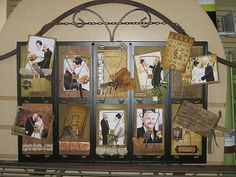 Memory Bound BLOG: Ideas for the 7 Gypsies Receipt Holders Wedding Picture Display Ideas #DIYwedding #vintagewedding