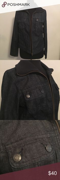 Talbots Denim Bomber Jacket NWT Talbots Denim Jacket (cut off tags by mistake, brand new, unworn)  Orig. $99  Bust: 40 inches Sleeve: 25 inches Length: 22 inches Talbots Jackets & Coats
