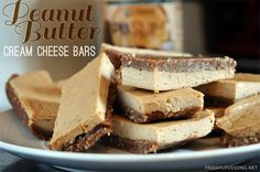 Peanut Butter Cream Cheese Bars \ fridaylovesong.net