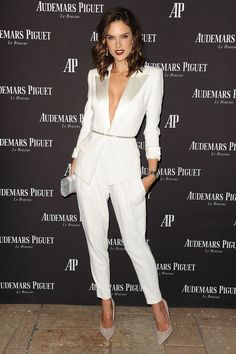 Ambrosio proves that a suit can be very sexy, just skip the shirt and add a belt.
