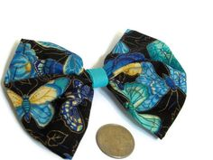 Bold Blue Butterfly Butterfly Bow Floral Bow by bowsngifts on Etsy, $3.00