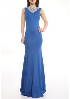 Elegante Abendmode Abendkleid Jasmin Blau