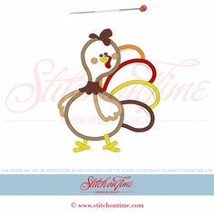 6 Mr Gobble Gobble : Turkey Applique 5x7