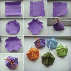 origami de Noël - de petites boîtes en papier pour cadeaux