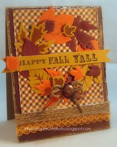Kristi's Paper Creations, Spellbinders Fall Foliage, JustRite Stamps