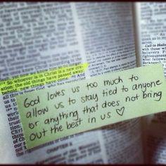 God loves us.
