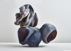 "Anne Marie Laureys, ""It's a Toy Violet Brain,"" 2018 Stoneware x x 17 in Art Et Design, Design Blog, Totems, Ceramic Studio, Ceramic Art, Sculpture Art, Sculptures, Art Gallery, Modern Ceramics"