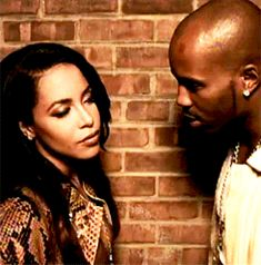 Aaliyah and DMX-when you think bae lyin so you look at his friend to see if he tellin the truth or not