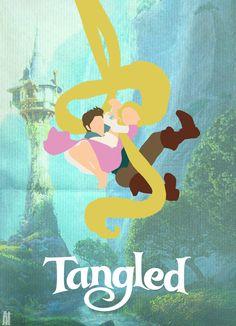 "A fanart poster of Disney's ""Tangled"", from jjartist.tumblr.com"