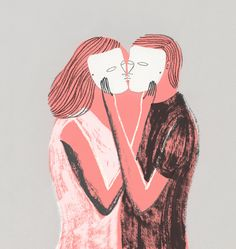 """We lie particularly often when it comes to love, because we care more about love than we care about most things, and because love causes us more fear than most things do, and caring and fearing are two of the most common reasons for lying."" (Illustration: Kaye Blegvad)"
