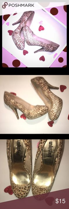 UNLISTED KENNETH COLE REACTION HEELS❤️❤️❤️ New without the tag cute cheetah heels very cute and stylish lovely for Valentines Day Heel size 4 inch Unlisted by Kenneth Cole Shoes Heels