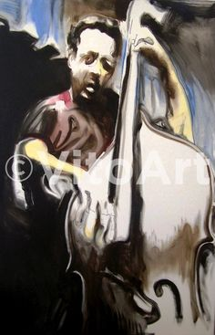 Charles Mingus 11 x 17 Watercolor Oil Jazz Expressive by VitoArt, $20.00