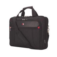 "Swiss Gear 17.3"" Top Load Laptop/Tablet Messenger Bag - Black : Standard Cases - Best Buy Canada"