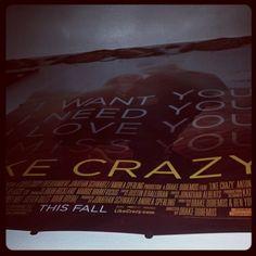 Like Crazy <3  #movie #likecrazy #movieposter #antonyelchin #felicityjones #paramount #lovehurts Like Crazy <3  #movie #likecrazy #movieposter #antonyelchin #felicityjones #paramount #lovehurts