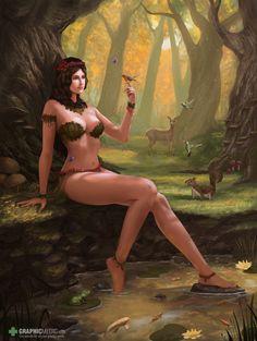 Nymph illustration Nymph, Bikinis, Swimwear, Illustrations, One Piece Swimsuits, Bikini, Bikini Swimsuit, Illustration, Bathing Suits