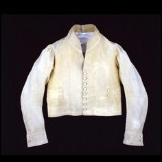 Post Boy's Jacket, 1800-1825, England, Yellow wool broadcloth; tabby cotton lining, Colonial Williamsburg, Acc. No. 1954-1042,1