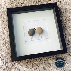 Lovebirds pebble art