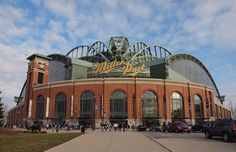 My favorite MLB park, Miller Park (home of the Brewers). I just love it when retro meets modern. The Brick exterior arcade topped with a state-of-the-art retractable roof that opens like a fan. Oh and I can't forget to mention the big windows!