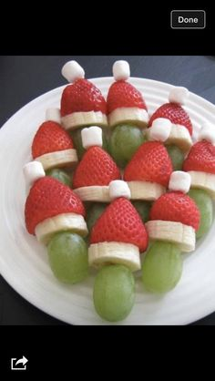 Fruit santas or fruit elves