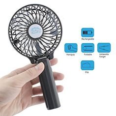 Perfect Small Personal Fan for Table /& Outdoor silver FJY Mini USB Personal Table Desk fan,Air Circulator Fan,Large Capacity 4000mA Rechargeable Battery