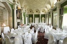 Hazlewood Castle nr Leeds I love this place Wedding Reception, Wedding Venues, 30th Birthday Parties, Grand Entrance, Leeds, Backdrops, Wedding Inspiration, Table Decorations, Castle Weddings