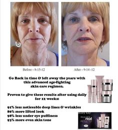 Real People, Real Results.  Mary Kay Time Wise Repair Line has proven results!  www.marykay.com/m.tyler  #marykay  91% of users had less noticeable deep lines and wrinkles after 12 weeks of use.  www.facebook.com/mtylermkay