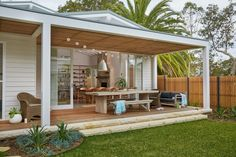 Is updating your home a goal on your list? Backyard Patio, Back Patio, Outdoor Spaces, Outdoor Living, Fachada Colonial, House Deck, My Dream Home, Exterior Design, Future House