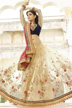 BEIGE-PINK WRINKLE GEORGETTE HALF HALF FANCY DESIGNER WEDDING SAREE at Lalgulal.com. To Order :- http://goo.gl/uPpsv0 To Order you Call or Whatsapp us on +91-95121-50402. COD & Free Shipping Available only in India.