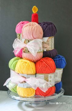 Repeat Crafter Me: 32 Gift Ideas for Crocheters Yarn Birthday Cake