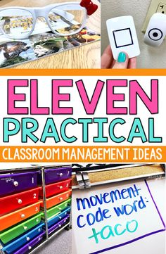 11 Practical Classroom Management Ideas Looking for some new tricks? This post has 11 practical classroom management tips that you will love! Using fun glasses [. Classroom Management Strategies, Classroom Procedures, Classroom Ideas, Classroom Organization, Kindergarten Classroom Management, Classroom Libraries, Classroom Teacher, Classroom Supplies, Classroom Rules