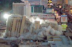 Alladin implosion, it was sad to see so many landmarks come down when we lived in Las Vegas. However, it has an even more exciting skyline now.  Still a great place to visit if you don't gamble too much.