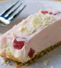 This recipe for Turkish Delight Cheesecake is super simple, super quick and the perfect sweet treat Ingredients Crust: 11 tennis biscuits, crushed 3 T ml) butter, melted Cheesecake: ¾ […] Tart Recipes, My Recipes, Sweet Recipes, Baking Recipes, Dessert Recipes, Recipies, Family Recipes, Cheesecake Mix, Cheesecake Recipes