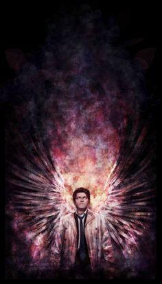 Supernatural fanart. Castiel