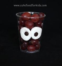 Cute Food For Kids?: Halloween Snack Idea: Monster In My Cup!