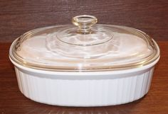 Corning Ware French White (F-2-B) Ribbed Oval Casserole Baking Dish with Lid (2.8 quarts) ** Quickly view this special product, click the image : bakeware
