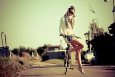 girl and bicycle by Lu Mis on 500px