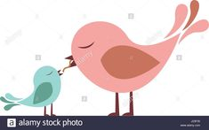 bird feeding chicks art | Dove Chick Stock Photos & Dove Chick Stock Images - Alamy