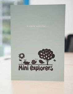 Flyer print design   Layout ideas   Mini Explorers   See what else we can do: http://www.wearelittle.agency/