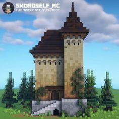 Minecraft Castle Blueprints, Minecraft House Plans, Minecraft Cottage, Minecraft House Tutorials, Minecraft House Designs, Minecraft Tips, Minecraft Creations, Minecraft Crafts, Minecraft Architecture