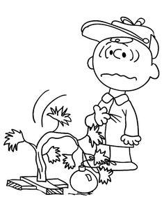 Charlie Brown Christmas Coloring Pages Sad Tree