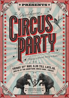 Party design poster vintage circus ideas for 2019 Circus Art, Circus Theme, Art Fou, Circus Vintage, Vintage Carnival, Cover Design, Art Du Cirque, Plakat Design, Poster Fonts