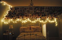 I love any space with Christmas lights.