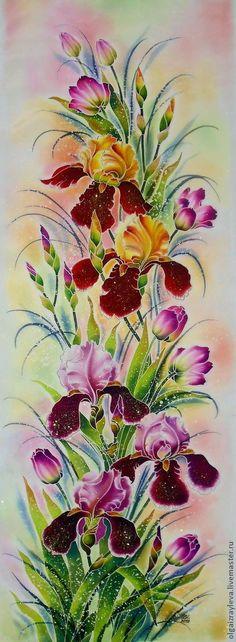 Батик из цветов