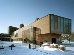 Lohja Library completes the ensemble of civic institutions in the heart of the city of Lohja by repairing the lost connections between the city's public facilit Red Brick Walls, Main Library, Brickwork, Red Bricks, Next Door, Public Service, Ground Floor, Finland, Maine