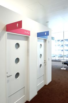 double duty identification and directional for restrooms